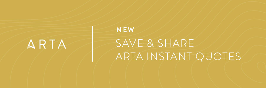 New: Save & Share ARTA Instant Quotes